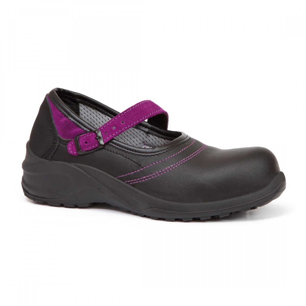 Giasco Violet Microwash ESD Black Ladies Ballerina Safety Court Shoes