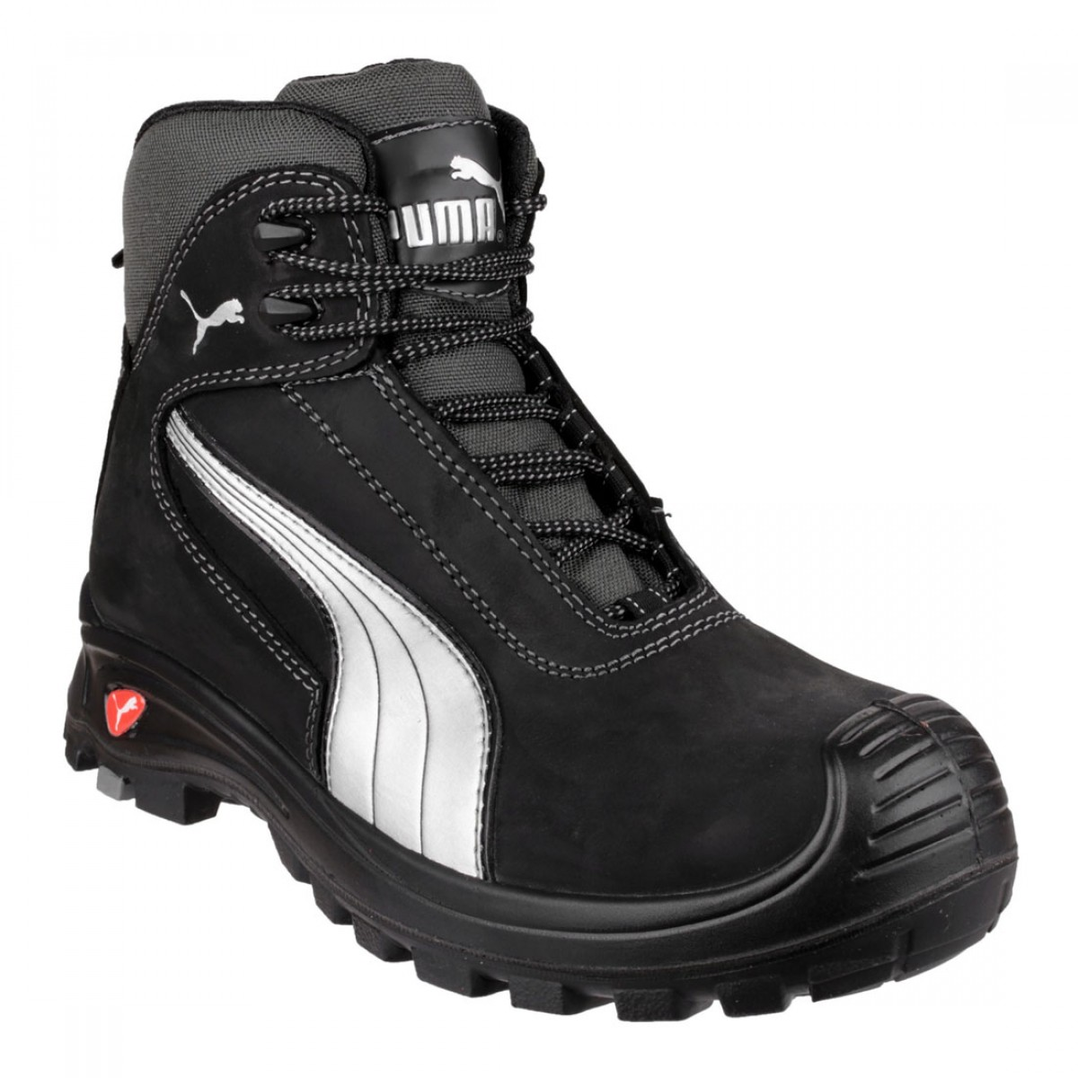 430293ed0c17 Puma Safety Boots Black Metal Free Cascades Mid Mens Work Boots