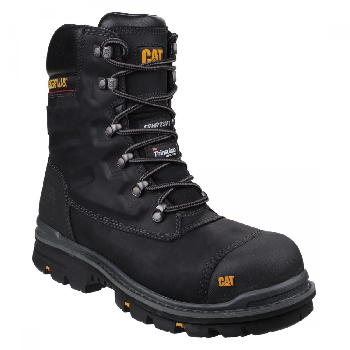 09d0fdbb6db Caterpillar Premier Waterproof Black Leather Mens S3 Safety Work Boots