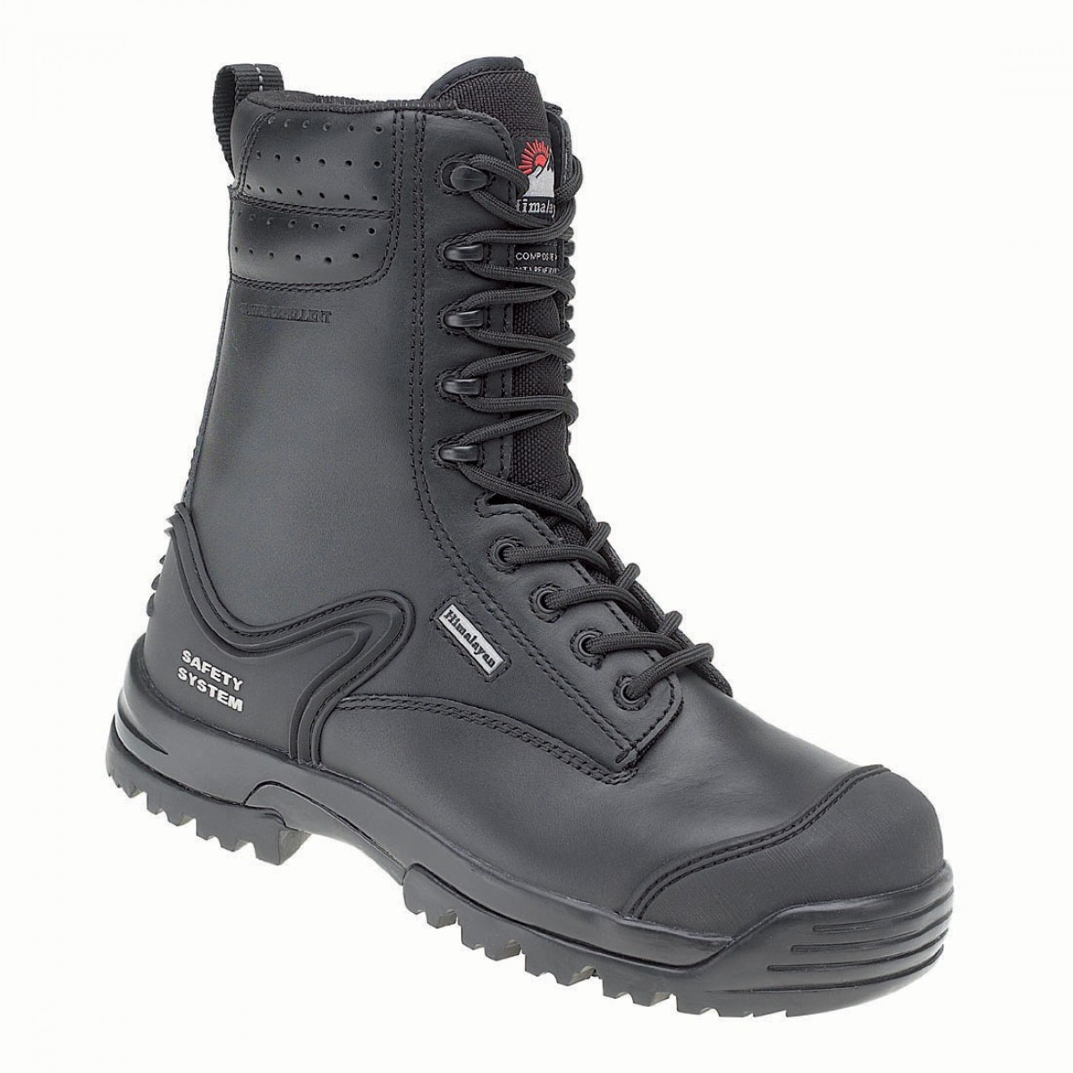 d163bff2829 Himalayan 5204 Gravity Black Leather Side Zip Metal Free S3 Safety Boots