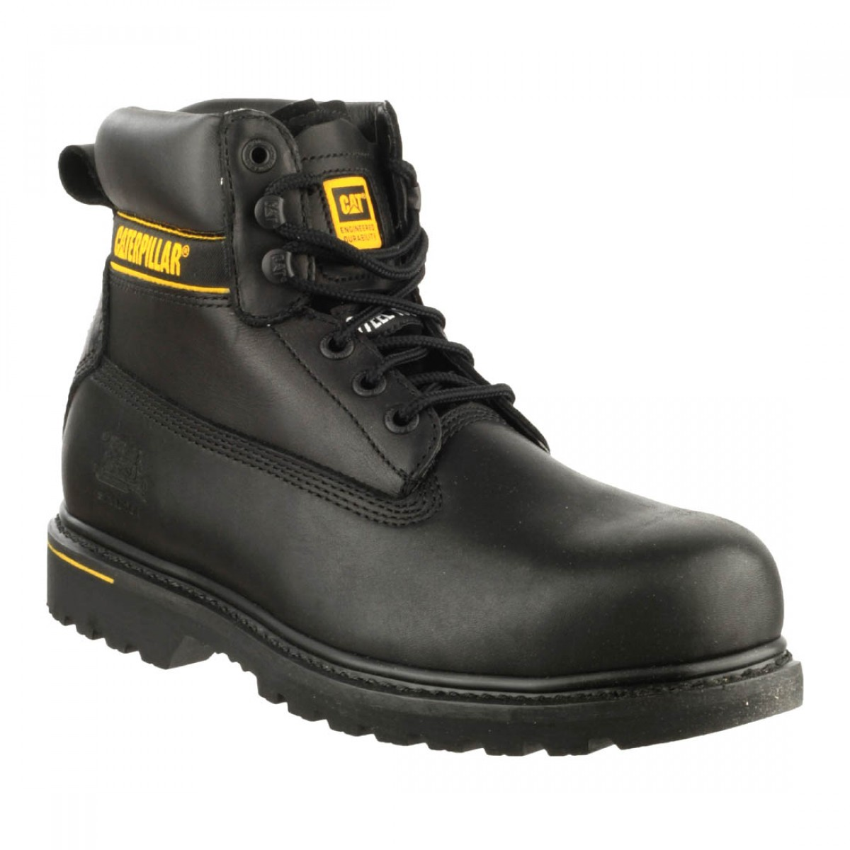 CAT Holton SB Black Leather Safety Boots - Charnwood ...