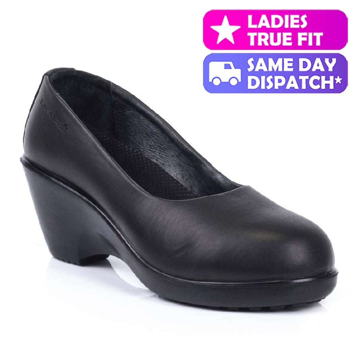 Leather Ladies Safety Court Shoes