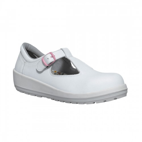 9ddf33599d1f Parade Batina White Microfiber Ladies Buckle Fastened Safety Work Shoes