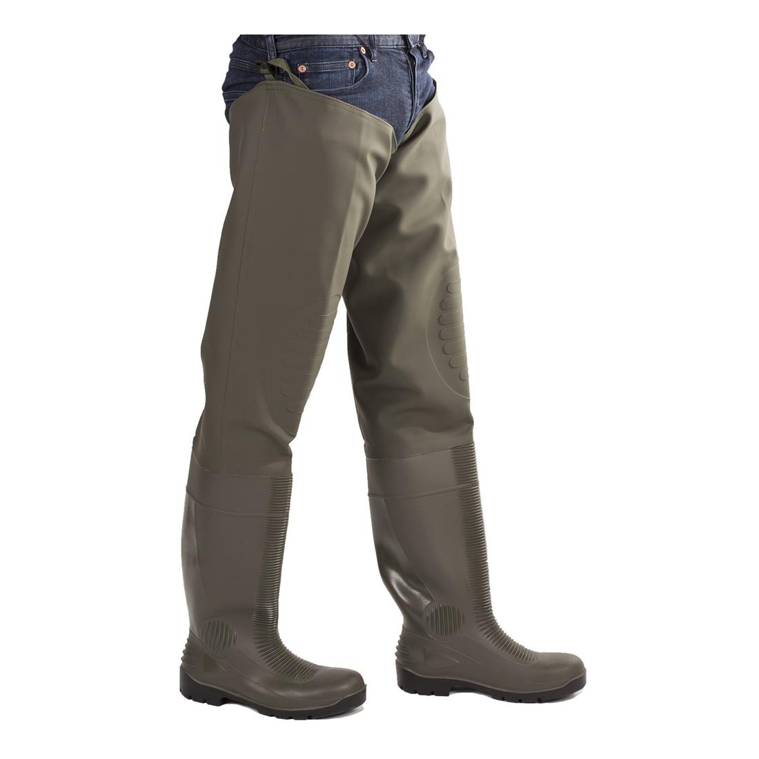 Amblers Safety Forth AS1003TW Waterproof S5 Safety Green Thigh Waders