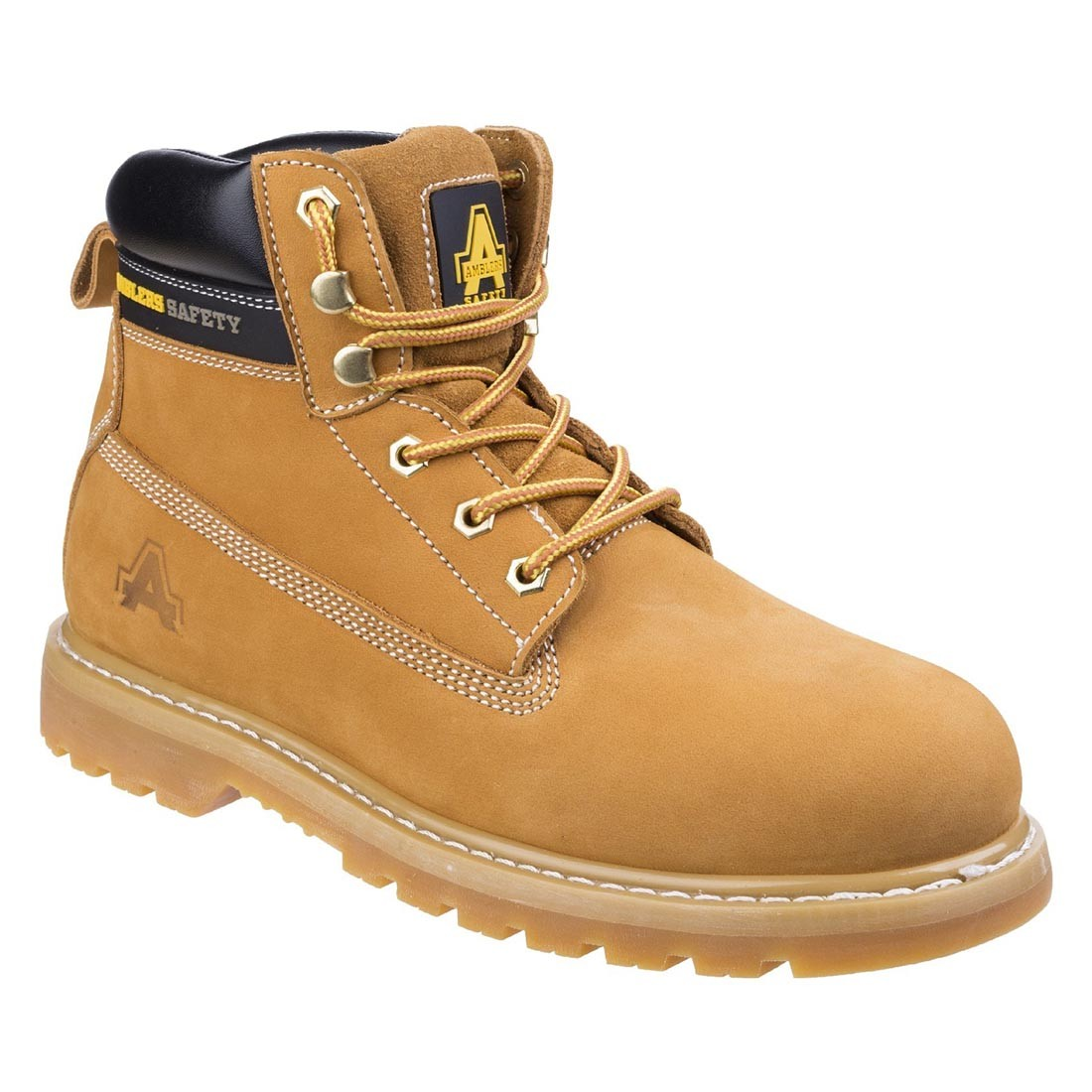 Amblers FS7 Steel Toe Cap Boot Honey Safety Boots