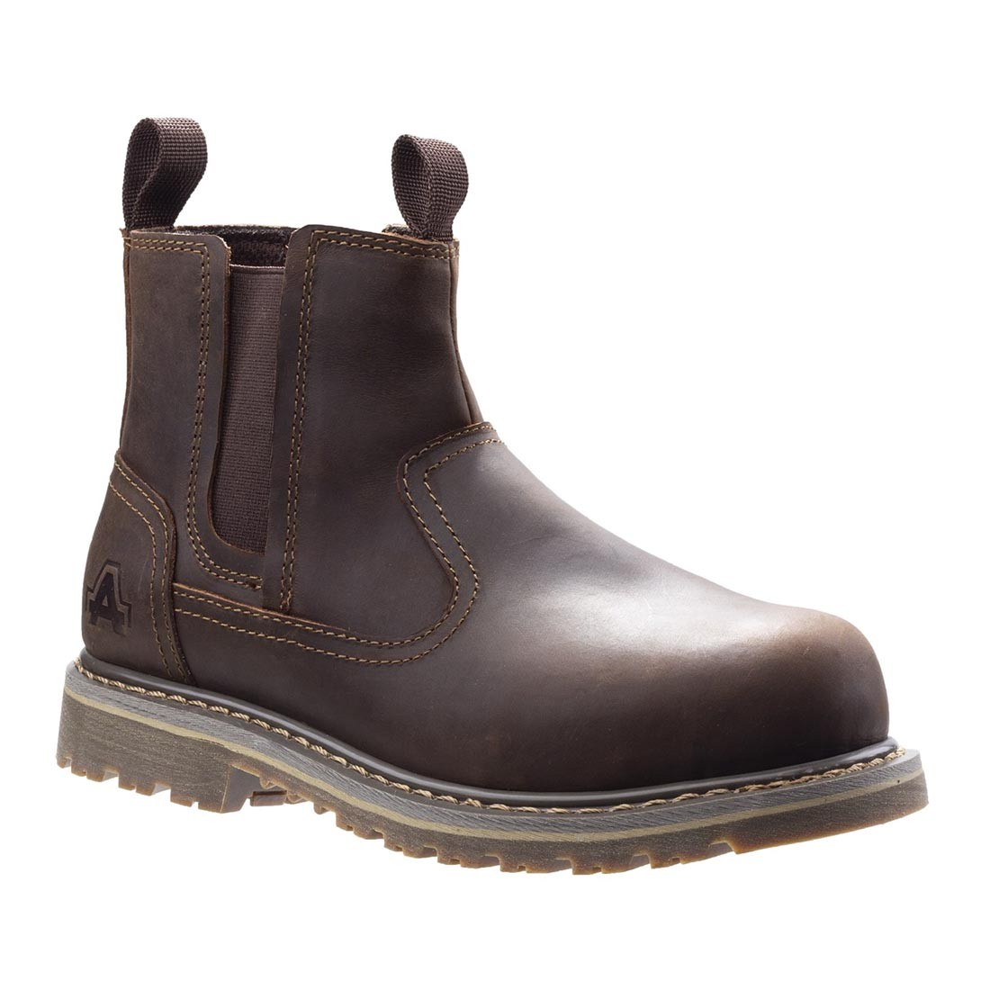 Amblers Alice Brown Leather Welted Ladies Safety Dealer Work Boots