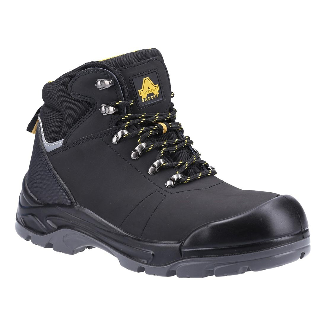 Amblers Safety AS252 Delamere Black Leather S3 SRC Safety Hiker Boots