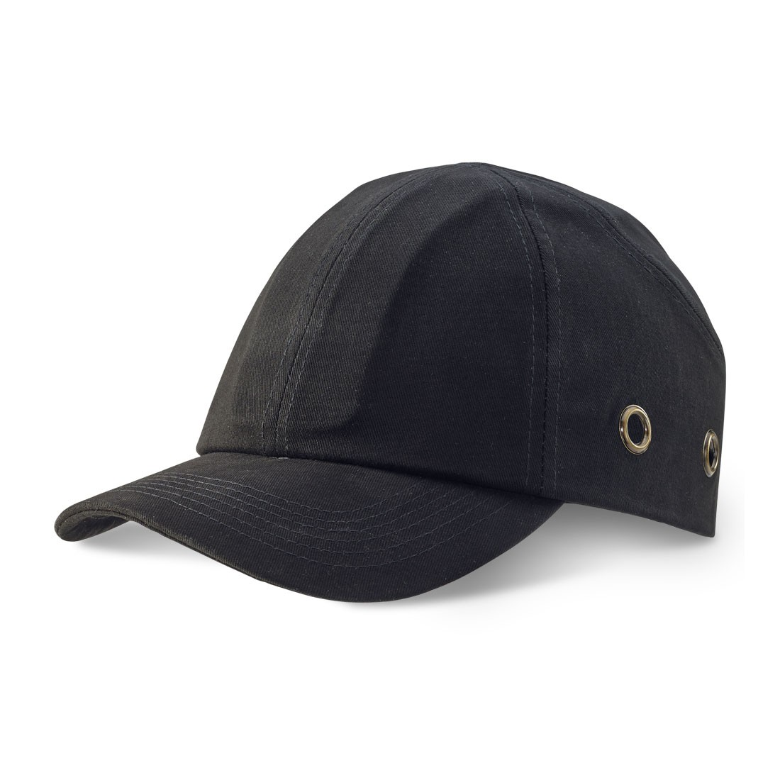 Safety Baseball Style Lightweight ABS Black Bump Cap with Ventalation