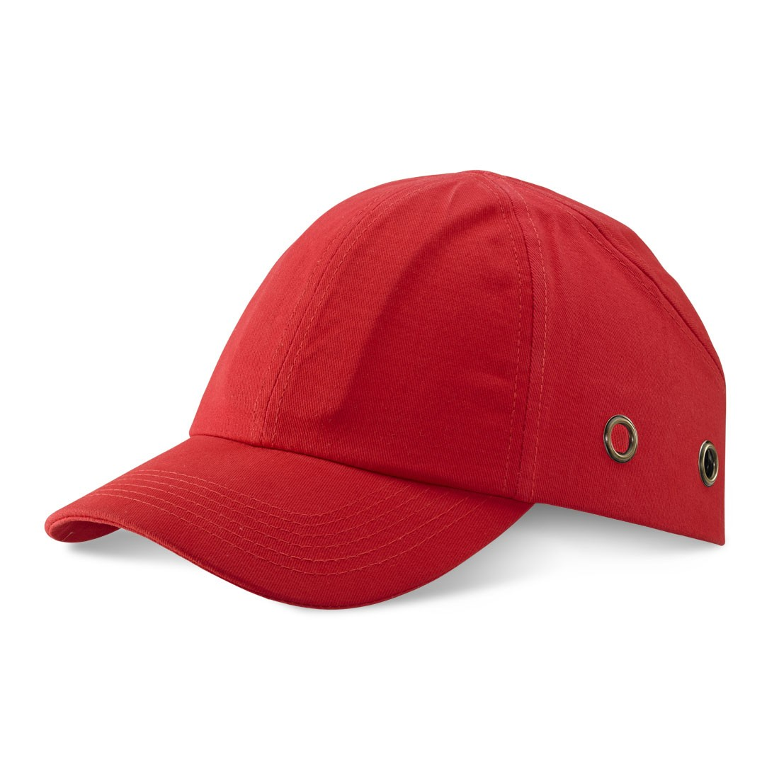Safety Baseball Style Lightweight ABS Red Bump Cap with Side Ventalation
