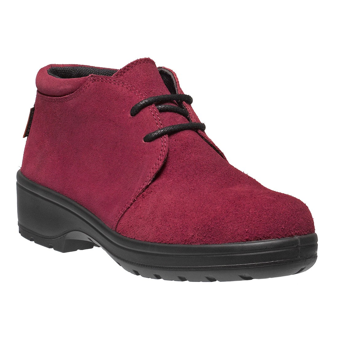 Dana Lightweight Red Leather Desert Style S3 Ladies Safety Work Boots