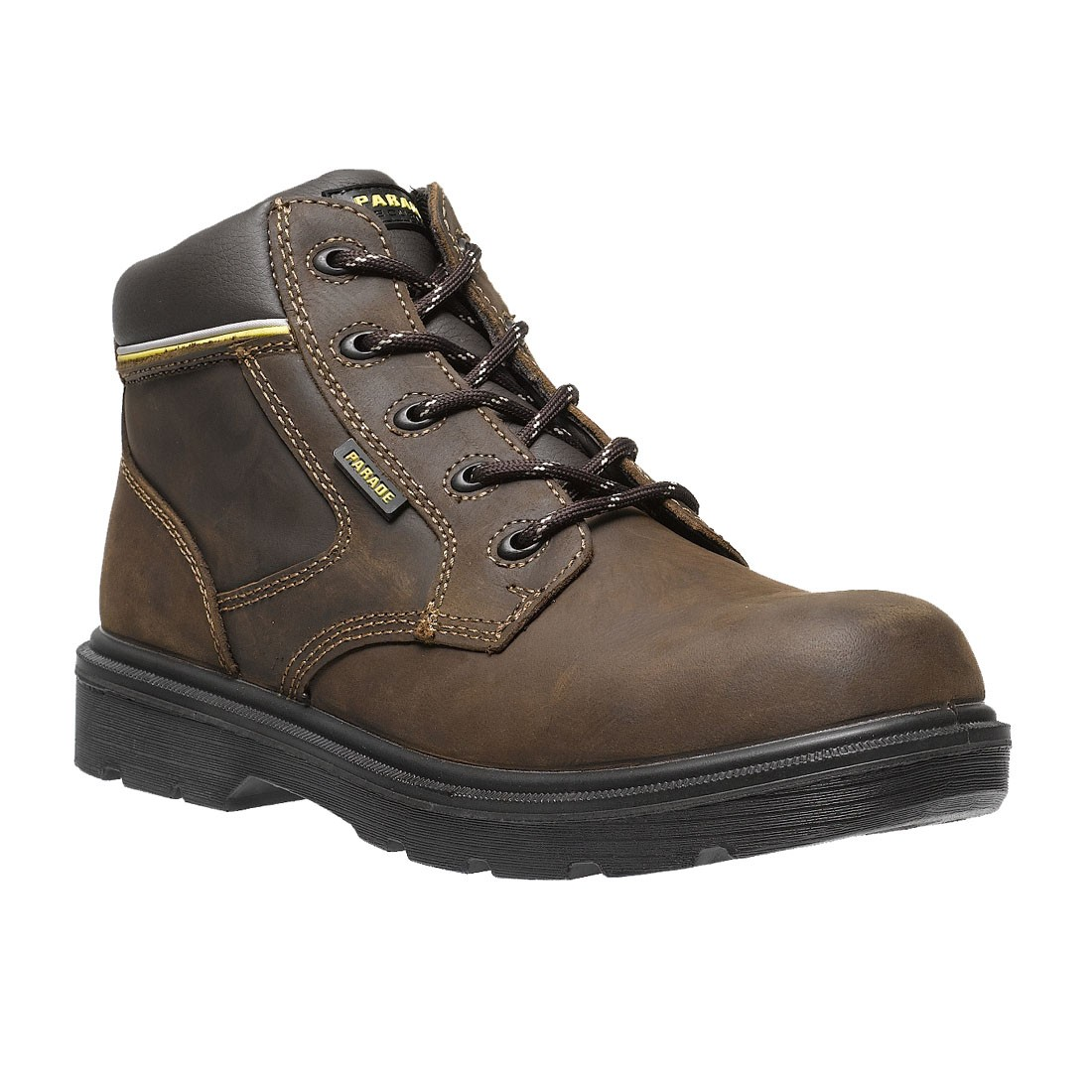 Parade Footwear Forest Mens Brown Leather Metal Free Safety Work Boots