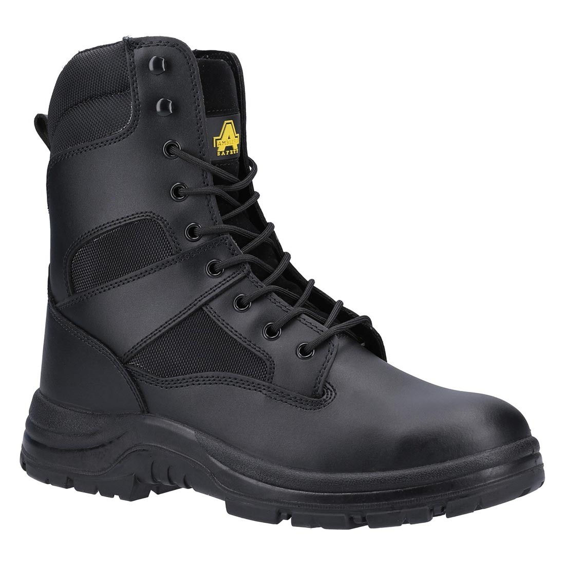 Amblers Safety FS008 Black Leather Side Zip S3 SRC Unisex Safety Boots