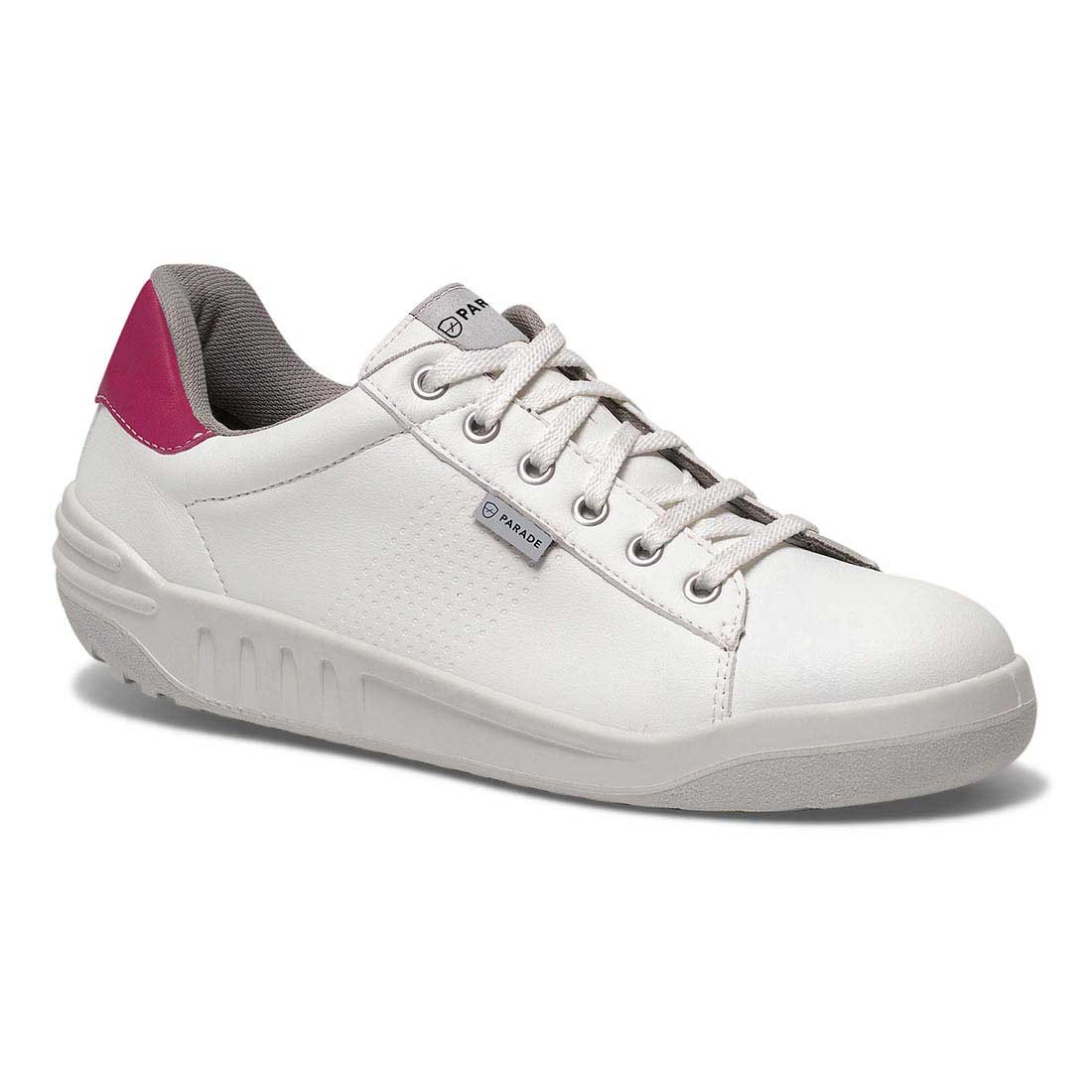 Parade Jamma Womens VPS White and Pink Ladies Work Safety Trainers