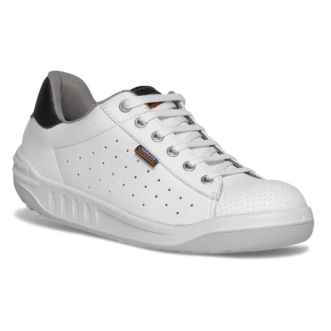 Parade Joppa White Unisex Safety Work trainers with VPS Comfort System