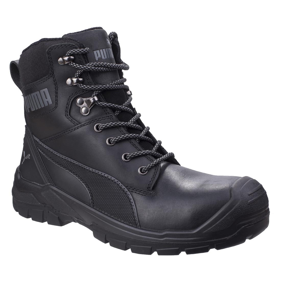 Puma Safety Conquest S3 Waterproof Black Leather Mens Safety Boots