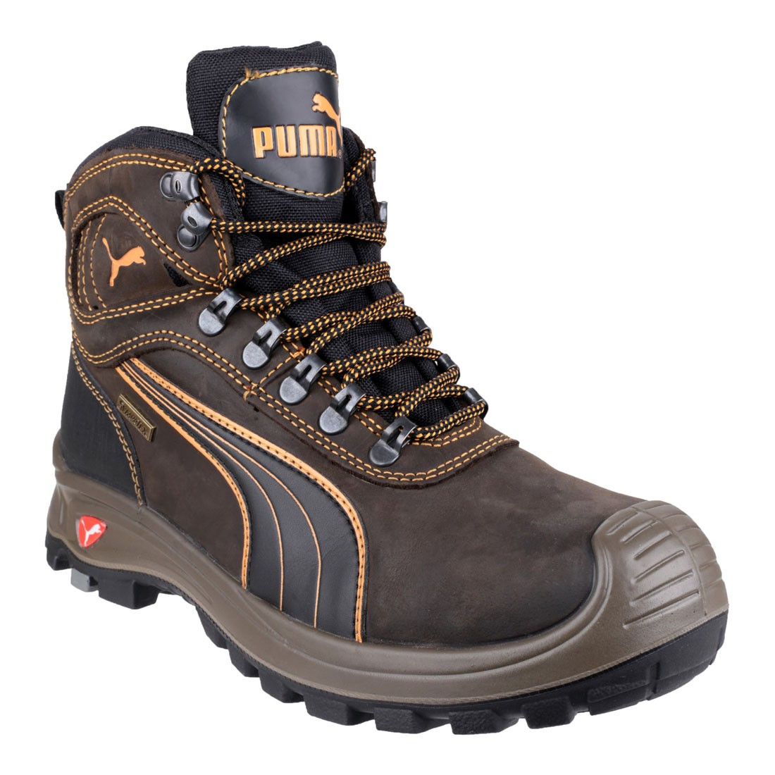 Puma Safety Boots Sierra Nevada Mid Brown Waterproof  Hiker Style Boots