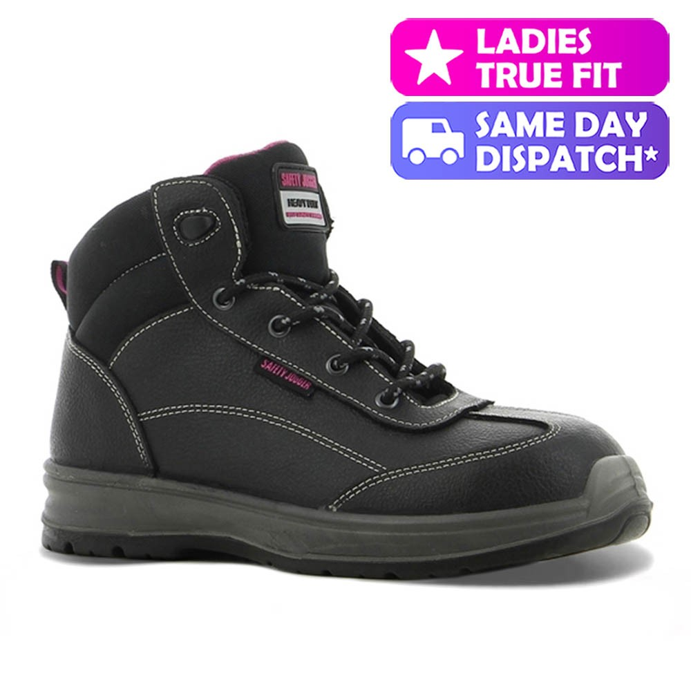 ca974245d5d Safety Jogger Best Lady Classic Black Leather S3 Ladies Safety Boots
