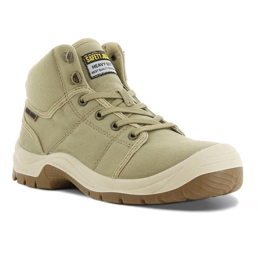 Safety Jogger Desert S1P SRC Lightweight Khaki Mens Safety Work Boots