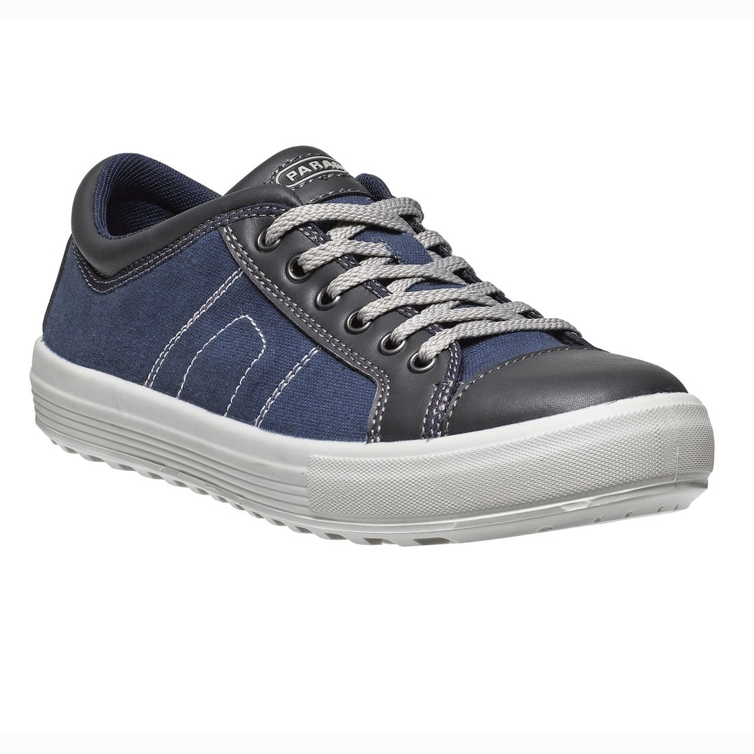 Parade Footwear Vance Unisex Navy and Black Canvas Safety Work Sneakers