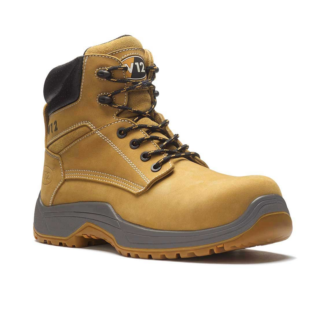 V12 Puma Honey Nubuck VR602 IGS Metal Free Lightweight Unisex Safety Boots