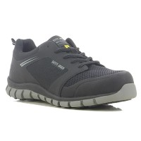 Safety Jogger Ligero Ultra Light Black ESD S1P Metal Free Safety Trainers