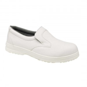 Catering White Slip On Safety Work Shoes
