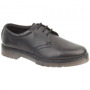 Amblers Aldershot Leather Gibson Black Shoes