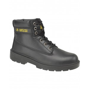 Amblers FS112 Black Leather Safety Boots