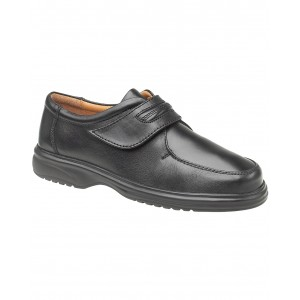 Amblers Berlin Featherlight Black Velcro Mens Shoes