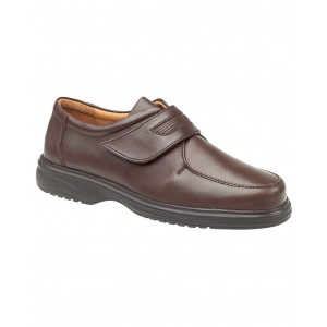 Amblers Berlin Featherlight Brown Velcro Mens Shoes