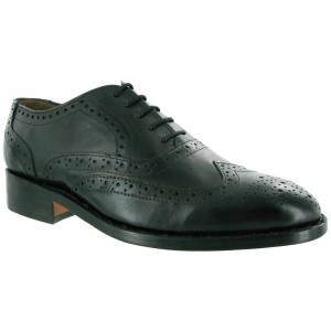 Amblers Ben Leather Soled Shoe Black