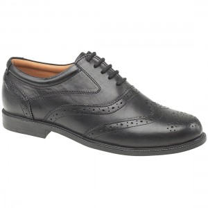 Amblers Liverpool Oxford Brogue Black