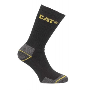 Caterpillar Crew Work Sock - 3 pair pack Black