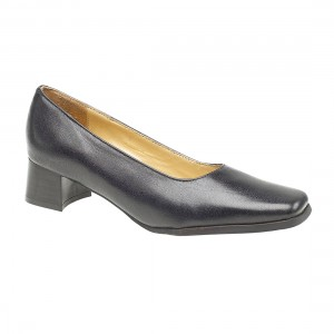Amblers Walford Wide Fit Navy Court Ladies Shoes