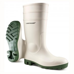 Dunlop Wellies - White Safety Wellingtons