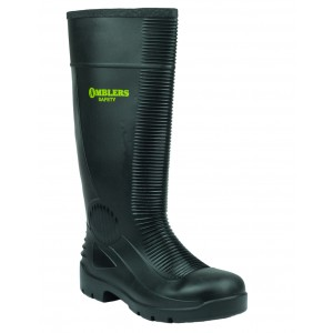Amblers FS100 Black S5 Safety Wellingtons