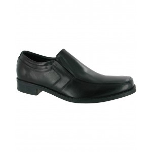Amblers Kevin Leather Black Slip-On Mens Shoes