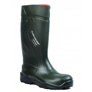 Dunlop Wellies - Purofort Plus Green Safety Wellingtons