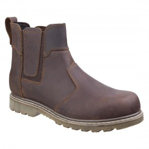 Amblers Abingdon Casual Dealer Brown Crazy Horse Mens Boots