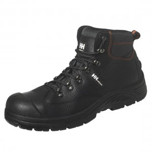 Helly Hansen Aker Mid Black Leather S3 Scuff Cap Unisex Safety Boots