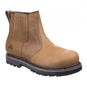 Amblers Safety AS232 Worton Tan Leather Waterproof Safety Dealer Boots