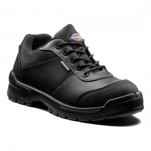 Dickies Andover Black Leather S3 Lightweight Unisex Safety Work Shoes