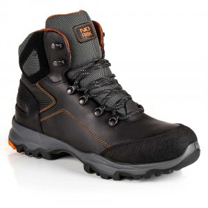 No Risk Apollo Waterproof Sympatex Black Leather Mens Safety Work Boots