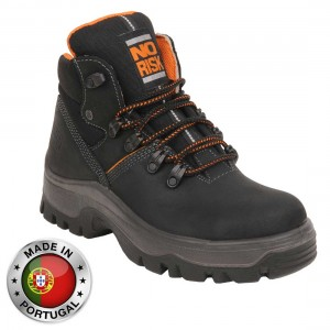No Risk Armstrong Black S3 Safety Work Boots