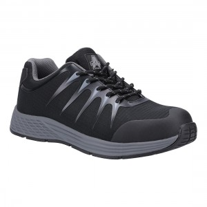 Amblers Safety AS717 Baton Black Textile Metal Free ESD Safety Trainers