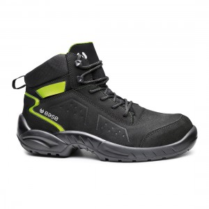 Base Chester Top B0177 Black Green Leather S3 SRC Safety Hiker Boots