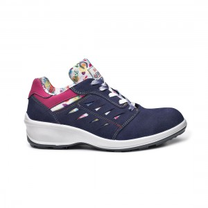 Base Katie B0323 Blue Pink Suede Leather S3 SRC Ladies Safety Shoes
