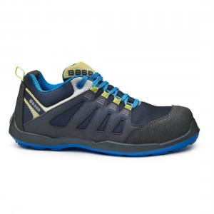 Base Paddle B0657 Metal Free Navy Yellow S1P SRC Safety Trainers