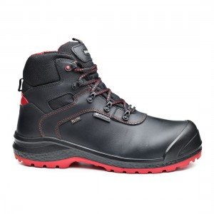 Base BeDry B0895 Metal Free WR Black Leather Waterproof Safety Boots
