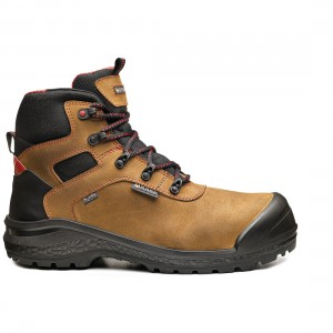 Base BeRock B0895 Metal Free WR Brown Leather Waterproof Safety Boots